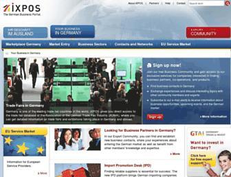 Main page screenshot of ixpos.de