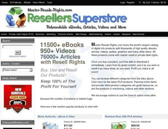 Thumbshot of Master-resale-rights.com