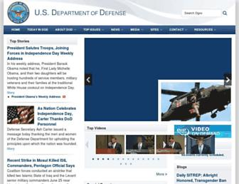 Main page screenshot of defense.gov