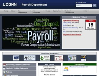 payroll.uconn.edu screenshot
