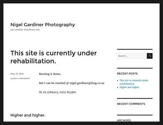 Main page screenshot of nigelgardiner.co.nz