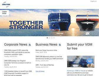 cma-cgm.com screenshot