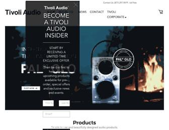 tivoliaudio.com screenshot