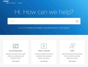 support.undsgn.com screenshot