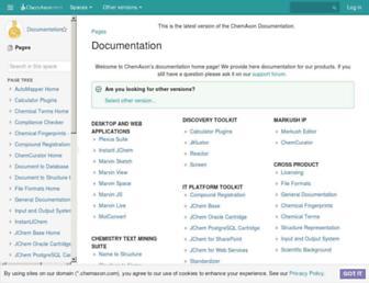 docs.chemaxon.com screenshot