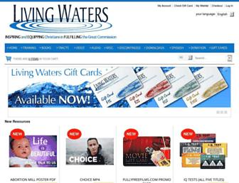 store.livingwaters.com screenshot