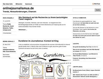 Main page screenshot of onlinejournalismus.de