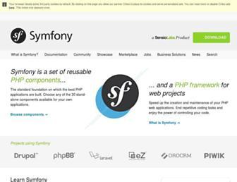 Thumbshot of Symfony.com