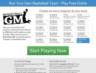 basketball-gm.com screenshot