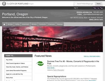 Thumbshot of Portlandoregon.gov