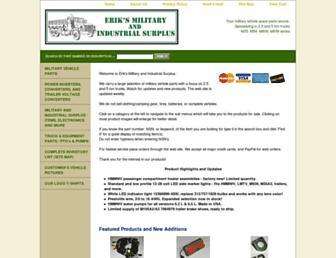 eriksmilitarysurplus.com screenshot