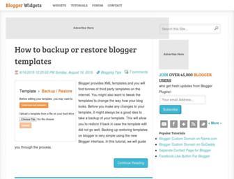 Main page screenshot of bloggerplugins.org