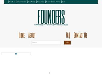 Main page screenshot of founders.org