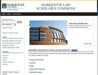 scholarship.law.marquette.edu screenshot