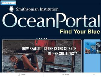 Main page screenshot of ocean.si.edu