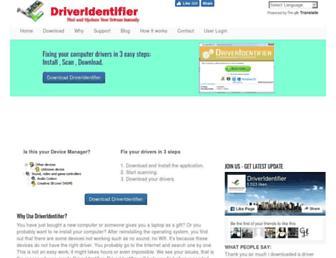 www6.driveridentifier.com screenshot