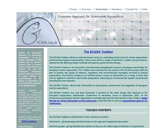 ecasa.org.uk screenshot