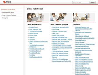 docs.trendmicro.com screenshot