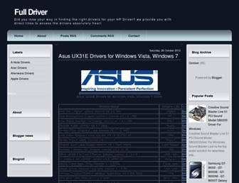 full-drivers.blogspot.com screenshot