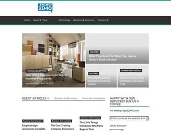 project2040.com screenshot