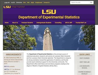 stat.lsu.edu screenshot