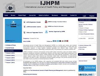 ijhpm.com screenshot