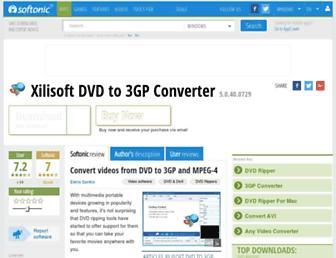 xilisoft-dvd-to-3gp-converter.en.softonic.com screenshot