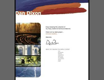 Main page screenshot of dandixon.us