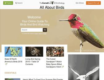 Thumbshot of Allaboutbirds.org
