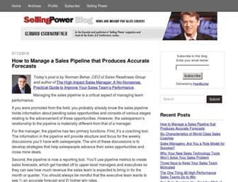 blog.sellingpower.com screenshot