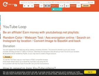 youtubeloop.net screenshot
