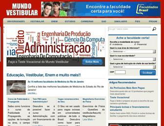 mundovestibular.com.br screenshot