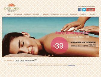 deedeethaispa.com screenshot