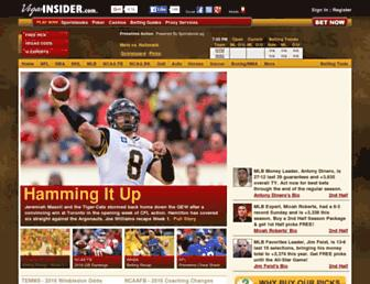 vegasinsider.com screenshot