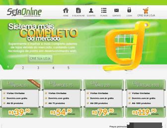 Main page screenshot of sejaonline.com.br