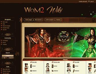 wiki.wom2.org screenshot