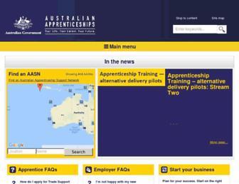 australianapprenticeships.gov.au screenshot