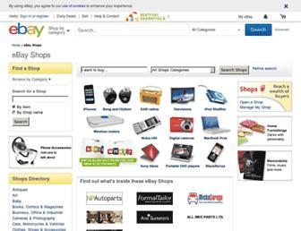 Main page screenshot of stores.ebay.co.uk