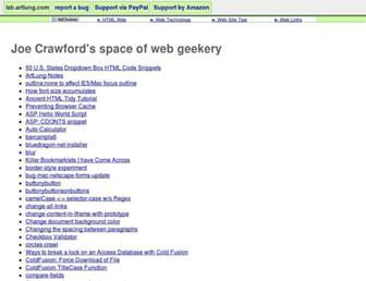 lab.artlung.com screenshot