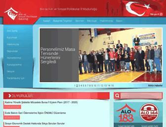 bursa.aile.gov.tr screenshot