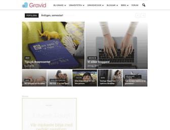 Main page screenshot of gravid.se