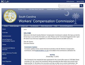 wcc.sc.gov screenshot