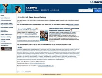 catalog.ucdavis.edu screenshot