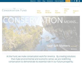 conservationfund.org screenshot