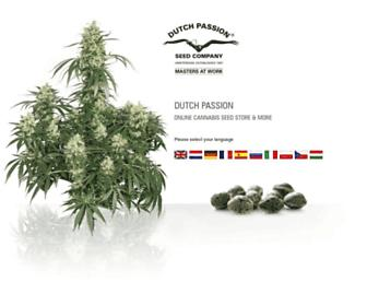 Main page screenshot of dutch-passion.nl