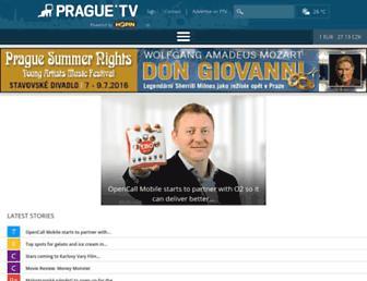 Main page screenshot of prague.tv