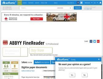 finereader.en.softonic.com screenshot