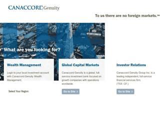 canaccordgenuity.com screenshot