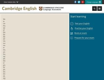 Thumbshot of Cambridgeenglish.org