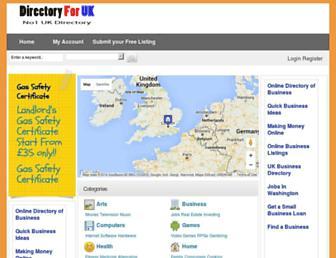 Thumbshot of Directoryforuk.co.uk